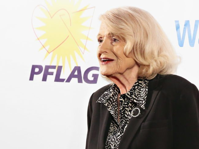 "Lesbian gay bisexual and transgender rights activist Edith ""Edie"" Windsor"