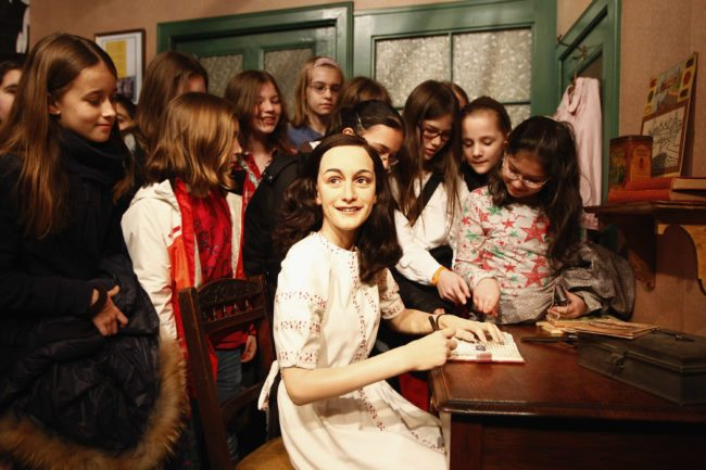 The wax figure of Anne Frank at Madame Tussauds in Berlin (Getty)