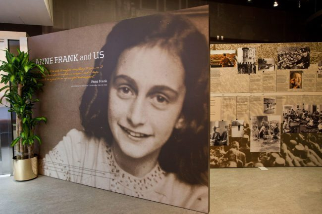 NEW YORK, NY - MARCH 26:  The entrance of the Anne Frank Center USA is seen on March 26, 2012 in New York City. The center, which opened on March 15, 2012, attempts to inspire tolerance by sharing about the life and thoughts of Anne Frank, a victim of the Holocaust.  (Photo by Andrew Burton/Getty Images)