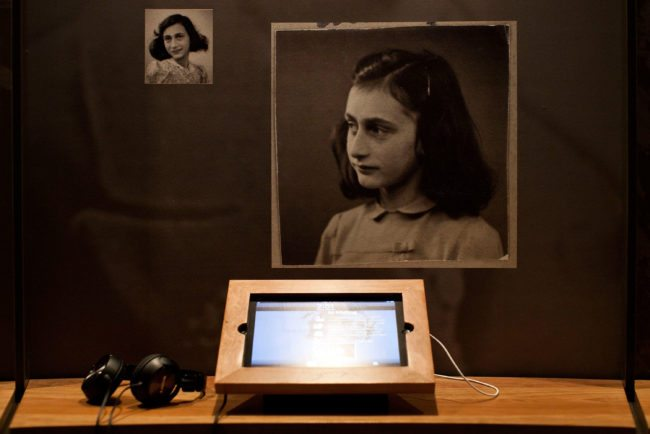 NEW YORK, NY - MARCH 26:  An iPad with interactive features used to educate people about Anne Frank's story is seen at the Anne Frank Center USA on March 26, 2012 in New York City. The center, which opened on March 15, 2012, attempts to inspire tolerance by sharing about the life and thoughts of Anne Frank, a victim of the Holocaust.  (Photo by Andrew Burton/Getty Images)