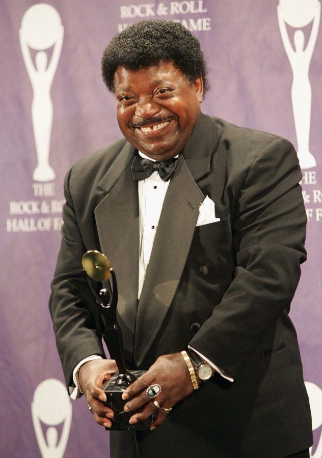 NEW YORK - MARCH 14:  Inductee Percy Sledge poses backstage at the 20th Annual Rock And Roll Hall Of Fame Induction Ceremony at the Waldorf Astoria Hotel on March 14, 2005 in New York City. (Photo by Evan Agostini/Getty Images)