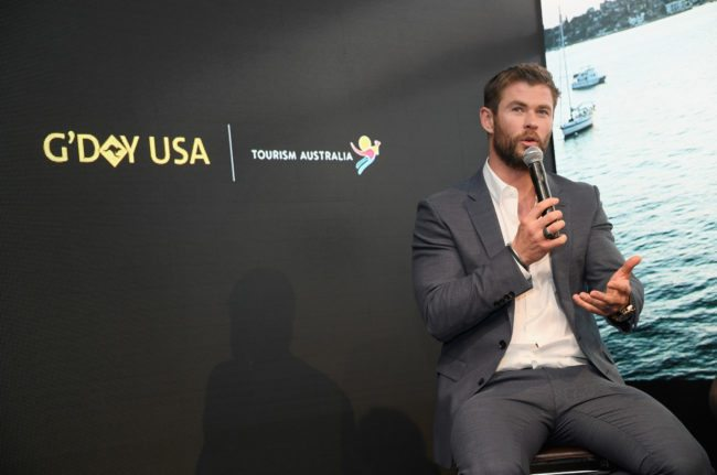 NEW YORK, NY - JANUARY 23:  Chris Hemsworth speaks onstage during a Virtual Tour of Australia in NYC at Hudson Mercantile on January 23, 2017 in New York City.  (Photo by Dimitrios Kambouris/Getty Images)