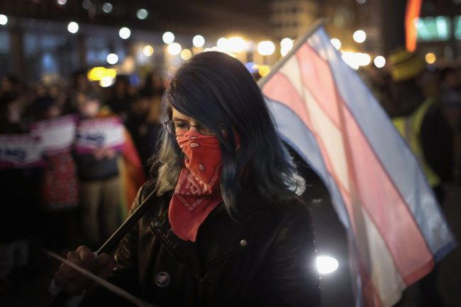 Trans rights protest in Chicago (Getty Images)