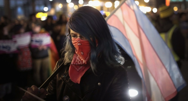 Trans rights protest in Chicago (Photo by Scott Olson/Getty Images)
