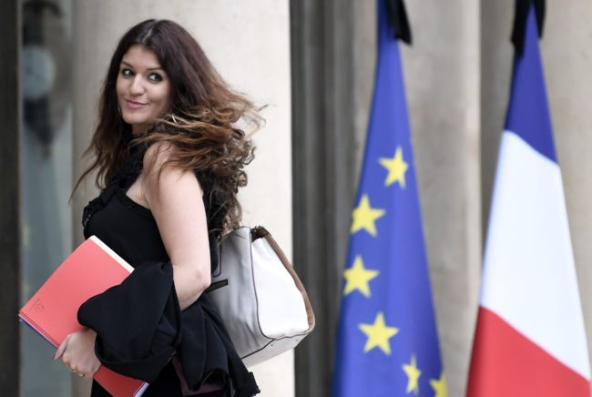French Minister of State for Gender Equality Marlene Schiappa arrives to attend the weekly cabinet meeting on May 24, 2017 at the Elysee Palace in Paris. / AFP PHOTO / STEPHANE DE SAKUTIN (Photo credit should read STEPHANE DE SAKUTIN/AFP/Getty Images)
