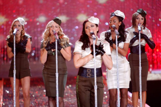 HOLLYWOOD - NOVEMBER 15: The Spice Girls perform at the 2007 Victoria's Secret fashion show held at the Kodak Theatre on November 15, 2007 in Hollywood, California. The show will be broadcast December 4, 2007 on CBS. (Photo by Mark Mainz/Getty Images)