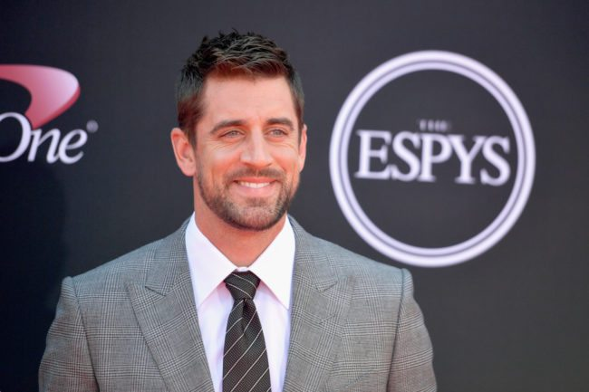 LOS ANGELES, CA - JULY 12:  NFL player Aaron Rodgers attends The 2017 ESPYS at Microsoft Theater on July 12, 2017 in Los Angeles, California.  (Photo by Matt Winkelmeyer/Getty Images)