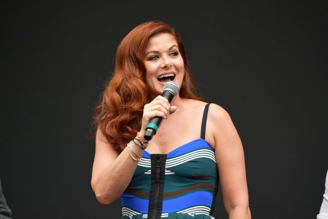 "LOS ANGELES, CA - AUGUST 02:  Actress Debra Messing attends the ""Will & Grace"" ribbon cutting Ceremony on August 2, 2017 in Los Angeles, California.  (Photo by Matt Winkelmeyer/Getty Images)"