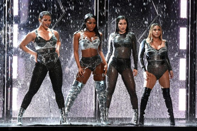 INGLEWOOD, CA - AUGUST 27:  (L-R) Dinah Jane, Normani Kordei, Lauren Jauregui, and Ally Brooke of Fifth Harmony perform onstage during the 2017 MTV Video Music Awards at The Forum on August 27, 2017 in Inglewood, California.  (Photo by Kevin Winter/Getty Images)