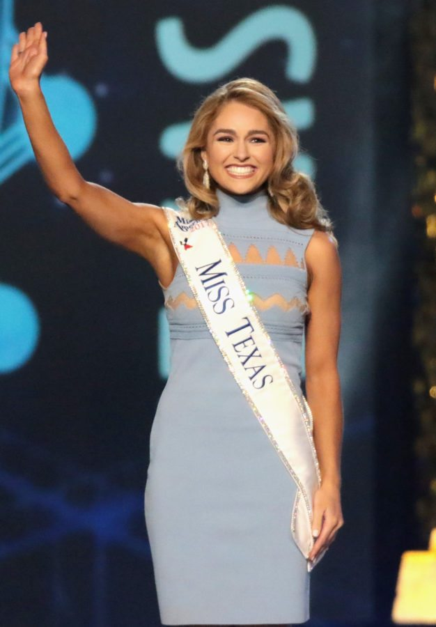 ATLANTIC CITY, NJ - SEPTEMBER 10:  Miss Texas 2017 Margana Wood is selected during the 2018 Miss America Competition Show at Boardwalk Hall Arena on September 10, 2017 in Atlantic City, New Jersey.  (Photo by Donald Kravitz/Getty Images for Dick Clark Productions)
