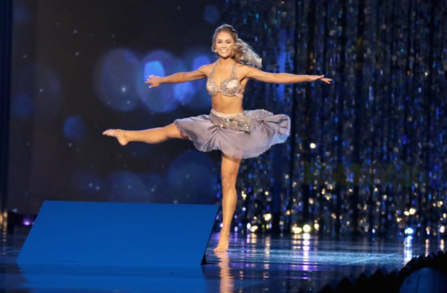 ATLANTIC CITY, NJ - SEPTEMBER 10:  Miss Texas 2017 Margana Wood - Dance - participates in talent showcase during the 2018 Miss America Competition Show at Boardwalk Hall Arena on September 10, 2017 in Atlantic City, New Jersey.  (Photo by Donald Kravitz/Getty Images for Dick Clark Productions)