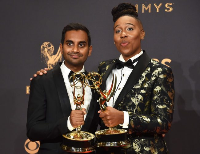 Aziz Ansari and Lena Waithe