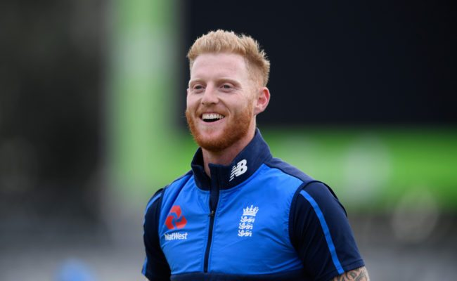 MANCHESTER, ENGLAND - SEPTEMBER 18: England player Ben Stokes raises a smile during England nets ahead of the 1st ODI against West Indies at Old Trafford on September 18, 2017 in Manchester, England. (Photo by Stu Forster/Getty Images)