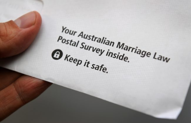 Same-sex marriage postal form