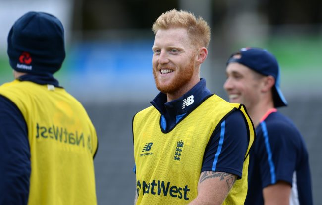 BRISTOL, ENGLAND - SEPTEMBER 23: Ben Stokes of England (C) looks on during an England Nets Session at the Brightside Ground on September 23, 2017 in Bristol, England. (Photo by Harry Trump/Getty Images)