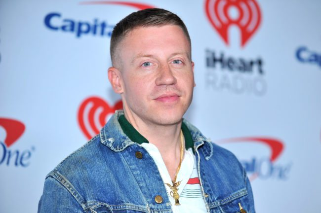 LAS VEGAS, NV - SEPTEMBER 23:  Macklemore attends the 2017 iHeartRadio Music Festival at T-Mobile Arena on September 23, 2017 in Las Vegas, Nevada.  (Photo by Sam Wasson/Getty Images for iHeartMedia)