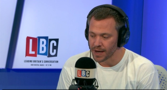 Will Young was featured as a guest co-host on LBC