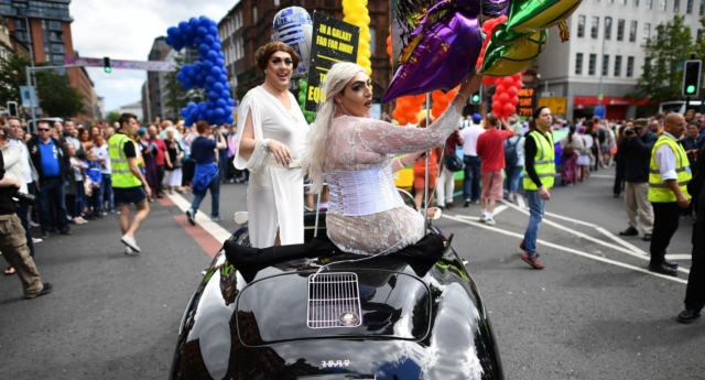 Pride participants at Belfast Pride call for equal marriage  (Photo by Charles McQuillan/Getty Images)