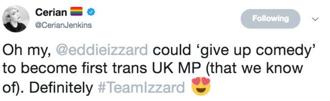 Eddie Izzard MP