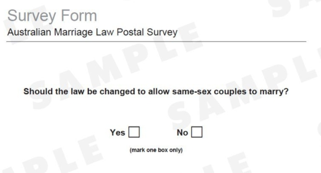Postal survey begins on same-sex marriage
