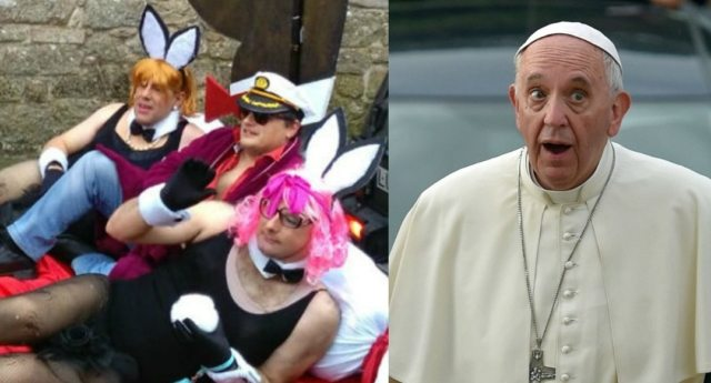 Pope and cardinal