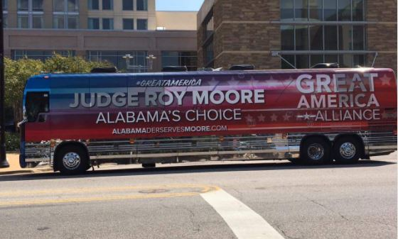 Roy Moore campaign bus