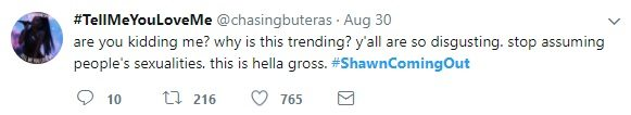 Shawn Mendes coming out tweets