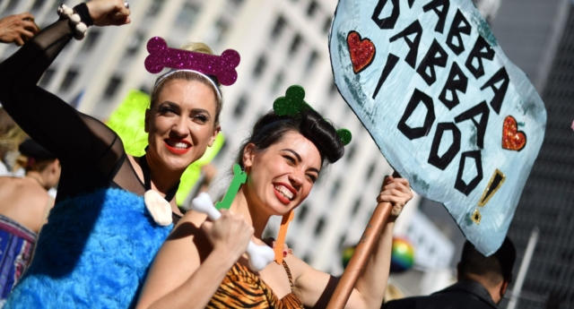 Equal marriage activists in Australia (SAEED KHAN/AFP/Getty Images)