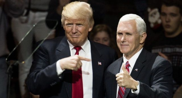 Donald Trump and Mike Pence (Photo by Ty Wright/Getty Images)