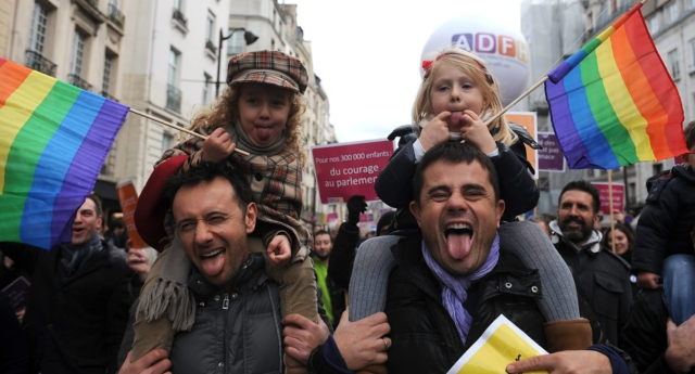 Same-sex parents in France (Getty)