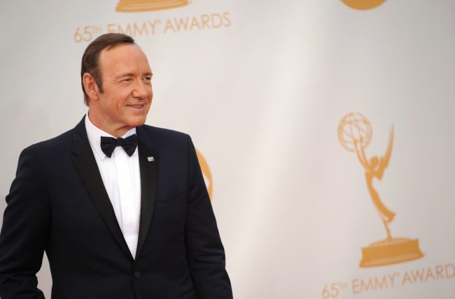 Actor Kevin Spacey arrives on the red carpet for the 65th Emmy Awards in Los Angeles on September 22, 2013. AFP PHOTO / Robyn Beck (Photo credit should read ROBYN BECK/AFP/Getty Images)