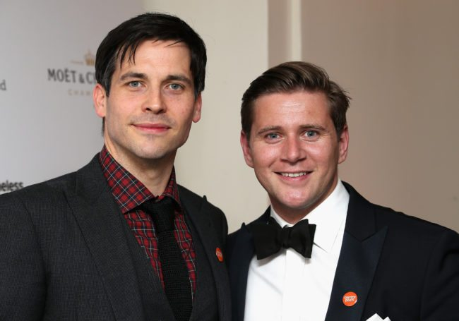 LONDON, ENGLAND - APRIL 30:  Actors Allen Leech and Rob James Collier attend The Downton Abbey Ball at The Savoy Hotel on April 30, 2015 in London, England.  (Photo by Chris Jackson/Getty Images)