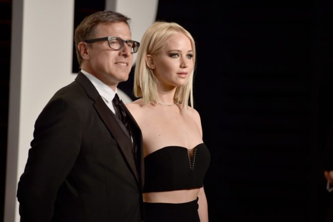 BEVERLY HILLS, CA - FEBRUARY 28:  Director David O. Russell (L) and actress Jennifer Lawrence attend the 2016 Vanity Fair Oscar Party Hosted By Graydon Carter at the Wallis Annenberg Center for the Performing Arts on February 28, 2016 in Beverly Hills, California.  (Photo by Pascal Le Segretain/Getty Images)