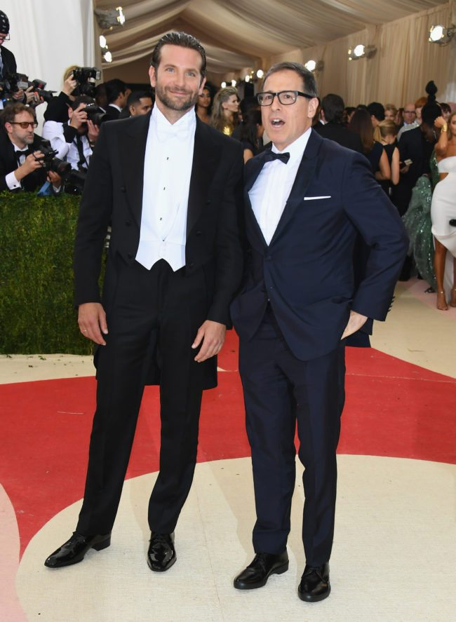 """NEW YORK, NY - MAY 02:  Actor Bradley Cooper and director David O. Russell attend the """"Manus x Machina: Fashion In An Age Of Technology"""" Costume Institute Gala at Metropolitan Museum of Art on May 2, 2016 in New York City.  (Photo by Larry Busacca/Getty Images)"""