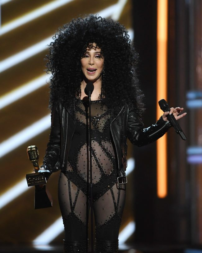LAS VEGAS, NV - MAY 21:  Actress/singer Cher accepts the Billboard Icon Award during the 2017 Billboard Music Awards at T-Mobile Arena on May 21, 2017 in Las Vegas, Nevada.  (Photo by Ethan Miller/Getty Images)