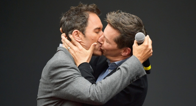 Eric McCormack and Sean Hayes at Will and Grace launch