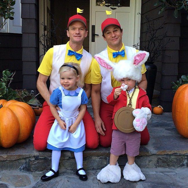 A couple of years after their twins were born the family chose a Halloween outing dressed as characters from Alice in Wonderland.  sc 1 st  PinkNews & Neil Patrick Harris and his family won Halloween again with their ...