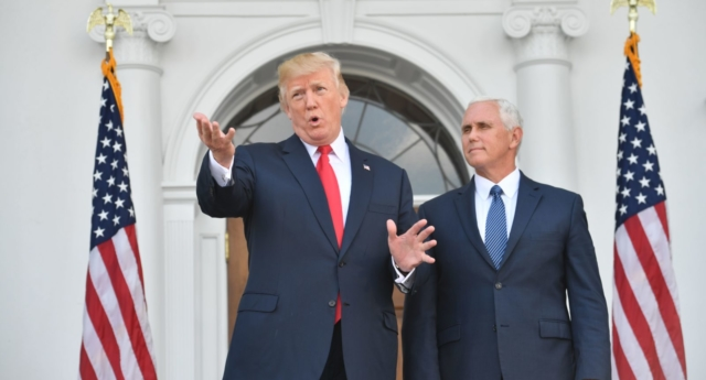 Donald Trump and Mike Pence (Photo by NICHOLAS KAMM/AFP/Getty Images)