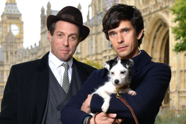 Hugh Grant as Jeremy Thorpe and Ben Whishaw as Norman Scott