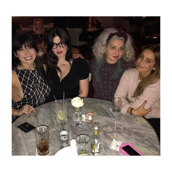Louise Rednapp and Daisy Lowe out for dinner (@louiseredknapp/Instagram)