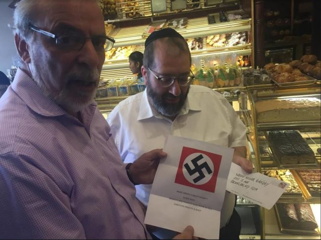 with the Nazi letter sent to Jewish stores
