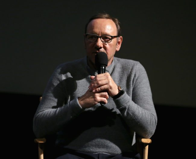 HOLLYWOOD, CA - JUNE 27: Academy Award winner Kevin Spacey speaks onstage at the Jameson First Shot short film competition at Paramount Pictures Studios on June 27, 2015 in Hollywood, California. (Photo by Todd Williamson/Getty Images for Pernod Ricard)