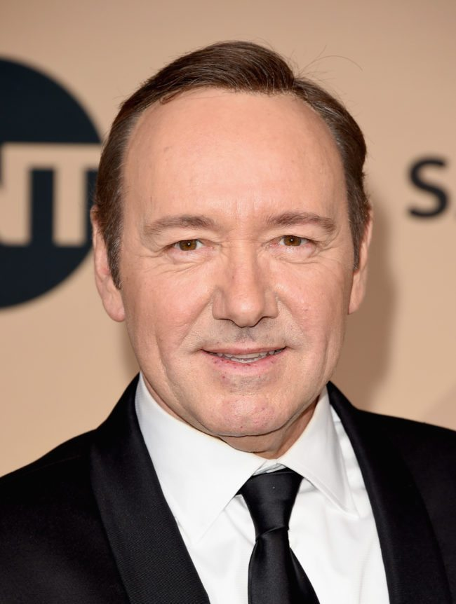 LOS ANGELES, CA - JANUARY 30: Actor Kevin Spacey, winner of the Male Actor in a Drama Series award for 'House of Cards' poses in the press room during The 22nd Annual Screen Actors Guild Awards at The Shrine Auditorium on January 30, 2016 in Los Angeles, California. 25650_015 (Photo by Jason Merritt/Getty Images for Turner)