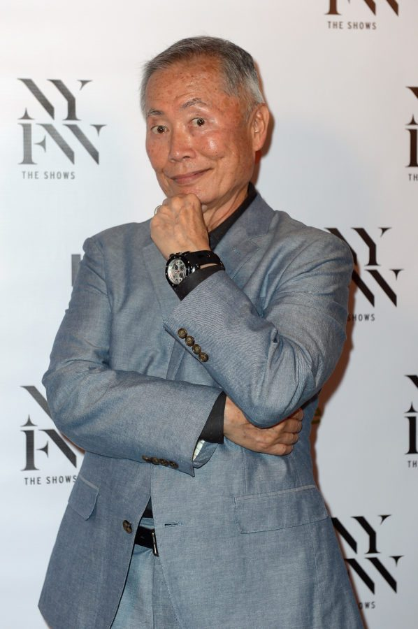 NEW YORK, NY - SEPTEMBER 10:  Actor George Takei poses backstage at the KYBOE! fashion show during New York Fashion Week: The Shows at The Arc, Skylight at Moynihan Station on September 10, 2016 in New York City.  (Photo by Gustavo Caballero/Getty Images for Kyboe!)