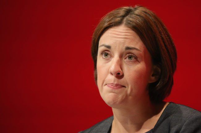 LIVERPOOL, ENGLAND - SEPTEMBER 26: Kezia Dugdale, leader of the Scottish Labour Party, addresses delegates on the second day of the annual Labour party conference at the ACC on September 26, 2016 in Liverpool, England. Shadow Chancellor John McDonnell has stated that if in power a Labour government would create a 'manufacturing renaissance'. Labour would also support traditional manufacturing and industry with government 'intervention' if needed. Mr McDonnell has also rejected claims that the party is anti-enterprise. (Photo by Christopher Furlong/Getty Images)