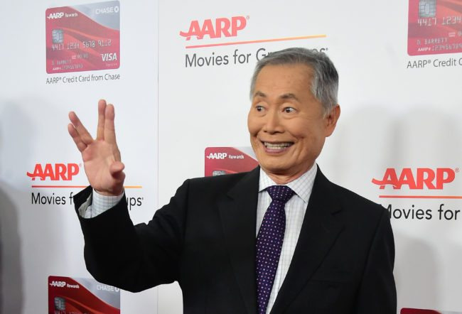 Actor George Takei arrives for the 16th Annual AARP Movies for Grownups Awards on February 6, 2017 in Beverly Hills, California. / AFP / Frederic J. Brown        (Photo credit should read FREDERIC J. BROWN/AFP/Getty Images)