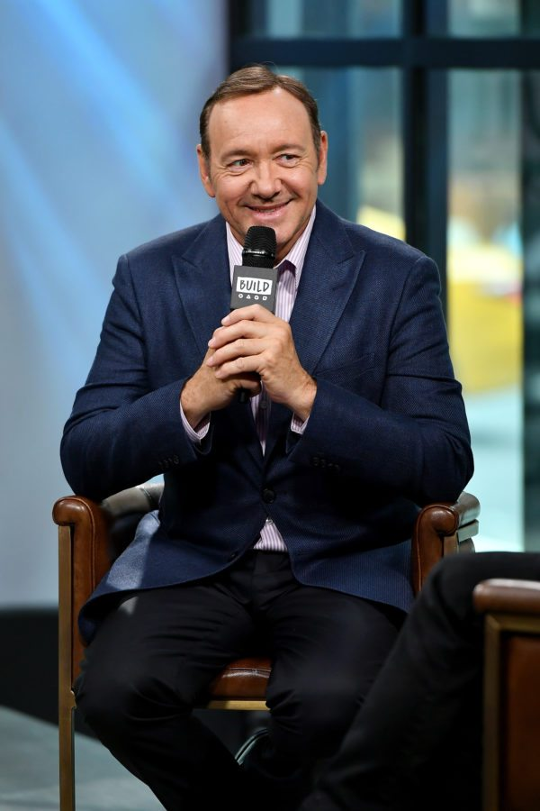 "NEW YORK, NY - MAY 24: Kevin Spacey visits the Build Series to discuss his new play ""Clarence Darrow"" at Build Studio on May 24, 2017 in New York City. (Photo by Dia Dipasupil/Getty Images)"