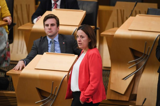 EDINBURGH, SCOTLAND - SEPTEMBER 12: Former Scottish Labour leader Kezia Dugdale arrives for Scottish Brexit minister Mike Russell statement to MSPs at the Scottish Parliament on the government's opposition to the EU Withdrawal bill as it stands on September 12, 2107 in Edinburgh, Scotland. Mr Russel set out the Scottish governments concerns over the EU Withdrawal Bill, which won its first Commons vote in the early hours of this morning. (Photo by Jeff J Mitchell/Getty Images)