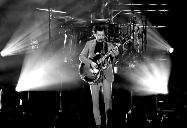 LOS ANGELES, CA - OCTOBER 21:  (EDITORS NOTE: Image has been converted to black and white.) Harry Styles performs onstage at CBS RADIO's We Can Survive 2017 at The Hollywood Bowl on October 21, 2017 in Los Angeles, California.  (Photo by Kevin Winter/Getty Images for CBS RADIO)