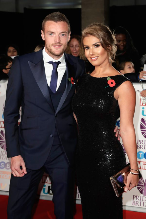 LONDON, ENGLAND - OCTOBER 30:  Jamie Vardy and Rebekah Vardy attend the Pride Of Britain Awards at Grosvenor House, on October 30, 2017 in London, England.  (Photo by John Phillips/Getty Images)